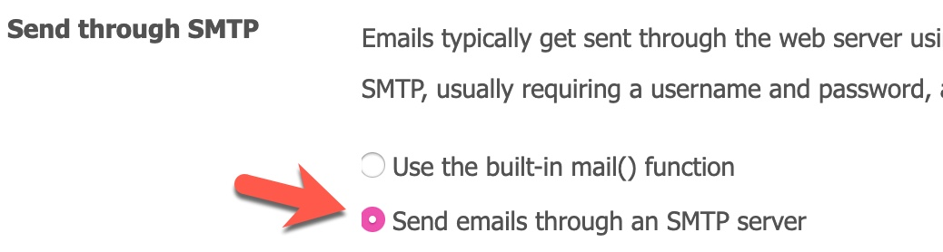 Enable SMTP SocialEngine
