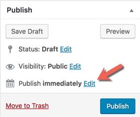 wordpress publish schedule