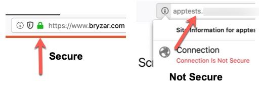 Browser SSL Security Lock
