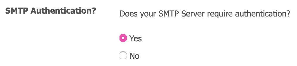 BryZar SMTP Settings