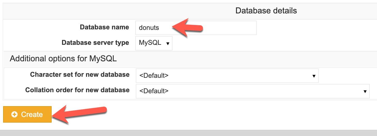 virtualmin database details